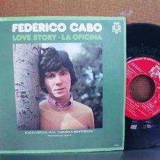Discos de vinilo: FEDERICO CABO-SINGLE LOVE STORY. Lote 287217703