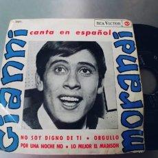 Disques de vinyle: GIANNI MORANDI-EP NO SOY DIGNO DE TI +3-EN ESPAÑOL-. Lote 287220178