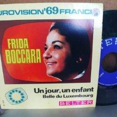 Discos de vinilo: FRIDA BOCCARA-SINGLE UN JOUR UN ENFANT-NUEVO. Lote 287220688