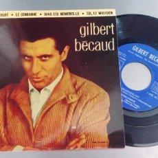 Discos de vinilo: GILBERT BECAUD-EP ET MAINTENANT +3-NUEVO. Lote 287223288