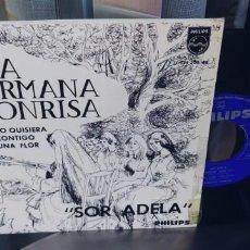 Discos de vinilo: HERMANA SONRISA - SOR ADELA + 3. Lote 287225128