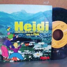 Discos de vinilo: HEIDI-SINGLE DE LA SERIE DE TVE-BUEN ESTADO. Lote 287229803