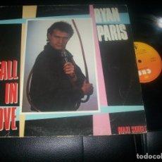 Discos de vinilo: RYAN PARIS - FALL IN LOVE - MAXI SINGLE VINILO - VERSION LARGA - CBS - DANCE MIX ITALO. Lote 287235328