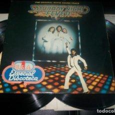 Disques de vinyle: SATURDAY NIGHT FEVER - BANDA SONORA DE LA PELÍCULA - DOBLE LP. DE RSO DE 1977 - GATEFOLD - SPAIN. Lote 287240393