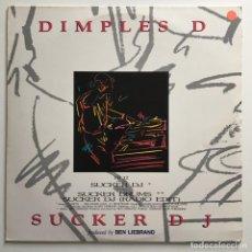 Discos de vinilo: DIMPLES D – SUCKER DJ, 2 LPS, UK 1990 FBI RECORDS. Lote 287251528
