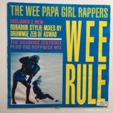 Discos de vinilo: WEE PAPA GIRL RAPPERS – WEE RULE, UK 1988 JIVE. Lote 287252268