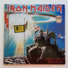 Discos de vinilo: IRON MAIDEN – 2 MINUTES TO MIDNIGHT · ACES HIGH, 2 VINYLS 12'' LIMITED EDITION EUROPE 1990. Lote 287254043