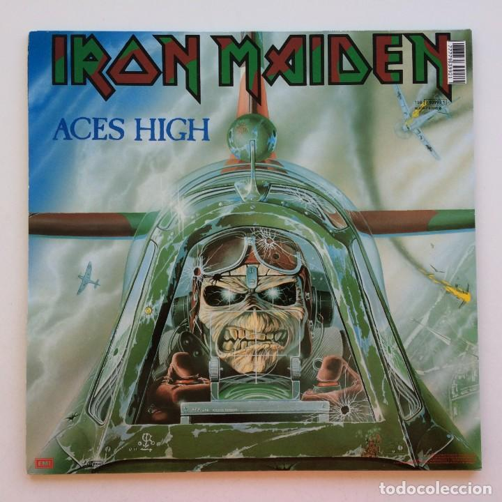 Discos de vinilo: Iron Maiden – 2 Minutes To Midnight · Aces High, 2 Vinyls 12 Limited Edition Europe 1990 - Foto 2 - 287254043