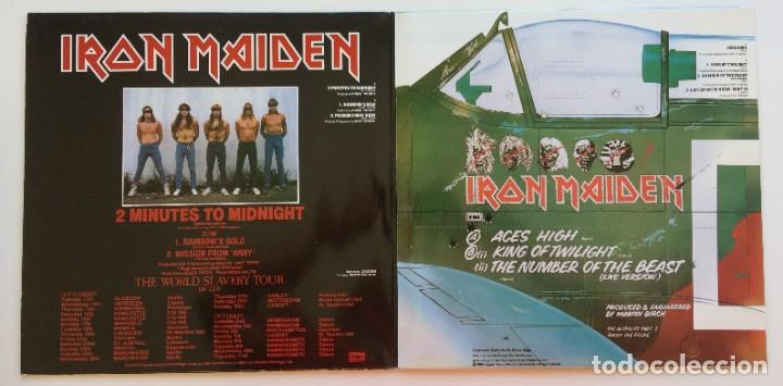 Discos de vinilo: Iron Maiden – 2 Minutes To Midnight · Aces High, 2 Vinyls 12 Limited Edition Europe 1990 - Foto 3 - 287254043