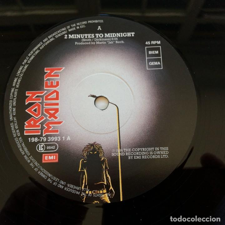 Discos de vinilo: Iron Maiden – 2 Minutes To Midnight · Aces High, 2 Vinyls 12 Limited Edition Europe 1990 - Foto 4 - 287254043