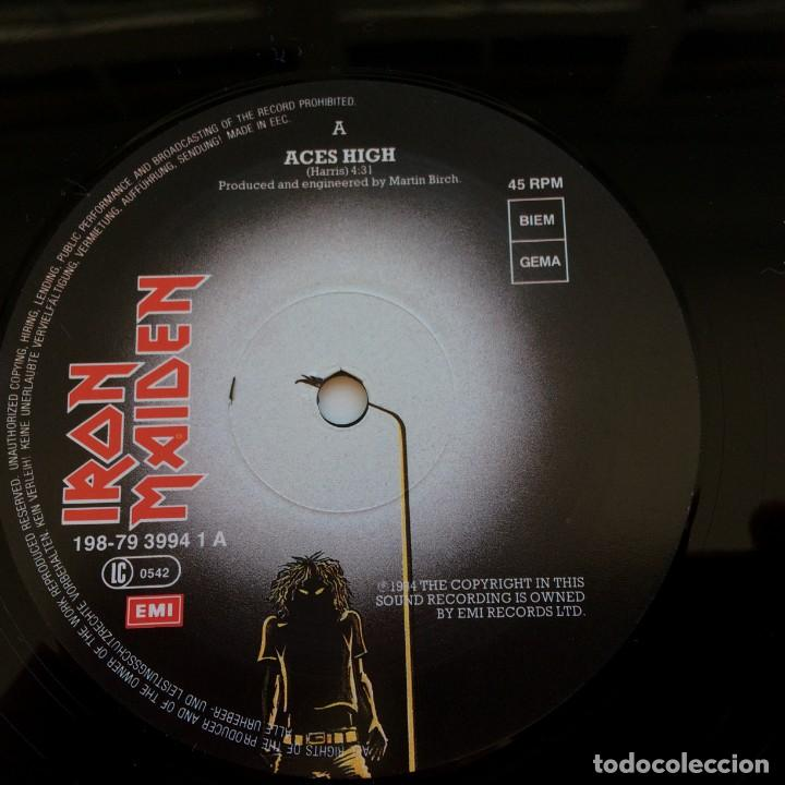 Discos de vinilo: Iron Maiden – 2 Minutes To Midnight · Aces High, 2 Vinyls 12 Limited Edition Europe 1990 - Foto 6 - 287254043