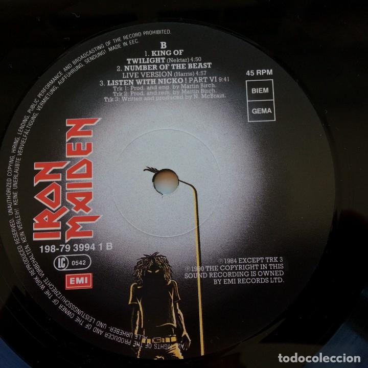 Discos de vinilo: Iron Maiden – 2 Minutes To Midnight · Aces High, 2 Vinyls 12 Limited Edition Europe 1990 - Foto 7 - 287254043