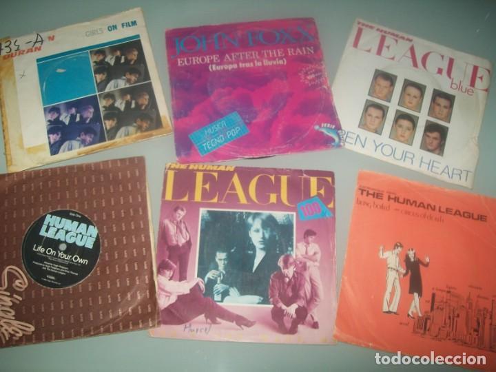 LOTE DE SINGLES DE HUMAN LEAGUE Y VARIOS DE TECNO -POP - 6 EN TOTAL JOHN FOXX DRAN DURAN - AÑOS 80 (Música - Discos - Singles Vinilo - Techno, Trance y House)