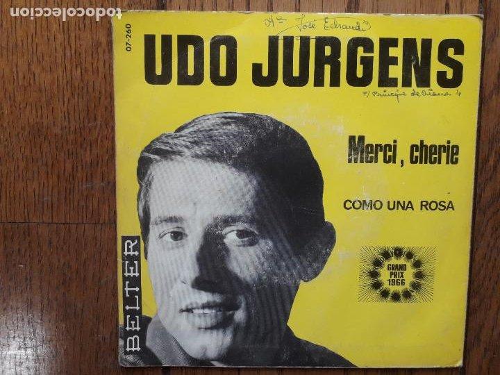 Discos de vinilo: Udo jurgens - merci, cherie + como una rosa - Foto 2 - 287265348