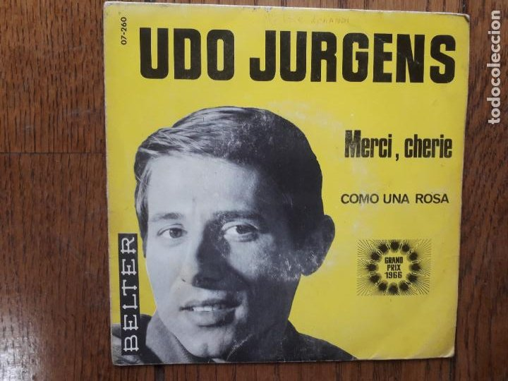 UDO JURGENS - MERCI, CHERIE + COMO UNA ROSA (Música - Discos - Singles Vinilo - Festival de Eurovisión)