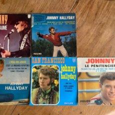 Discos de vinilo: 5 SINGLE VINILO JOHNNY HALLYDAY. Lote 287308923