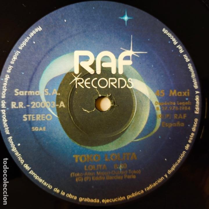 Discos de vinilo: LOLITA- TOKO LOLITA- MAXI SINGLE 1984- EXC. ESTADO. - Foto 3 - 287309618