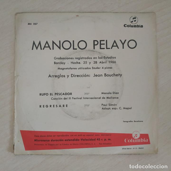 Discos de vinilo: MANOLO PELAYO - RUFO EL PESCADOR (III FESTIVAL DE MALLORCA) / REGRESARE (SINGLE 1966) VINILO NUEVO - Foto 2 - 287320573