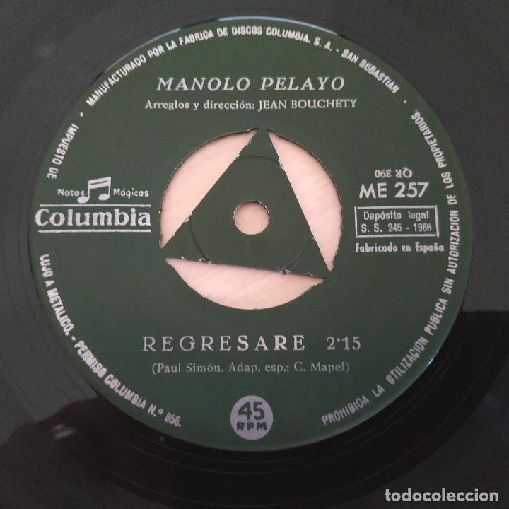 Discos de vinilo: MANOLO PELAYO - RUFO EL PESCADOR (III FESTIVAL DE MALLORCA) / REGRESARE (SINGLE 1966) VINILO NUEVO - Foto 4 - 287320573