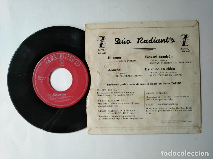 Discos de vinilo: DUO RADIANTS - EP - DE CHICA EN CHICA + 3 - ZAFIRO ZE 625 - VER FOTOS Y DESCRIPCION - Foto 2 - 287337143