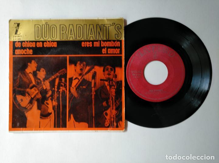 DUO RADIANT'S - EP - DE CHICA EN CHICA + 3 - ZAFIRO ZE 625 - VER FOTOS Y DESCRIPCION (Música - Discos de Vinilo - EPs - Solistas Españoles de los 50 y 60)