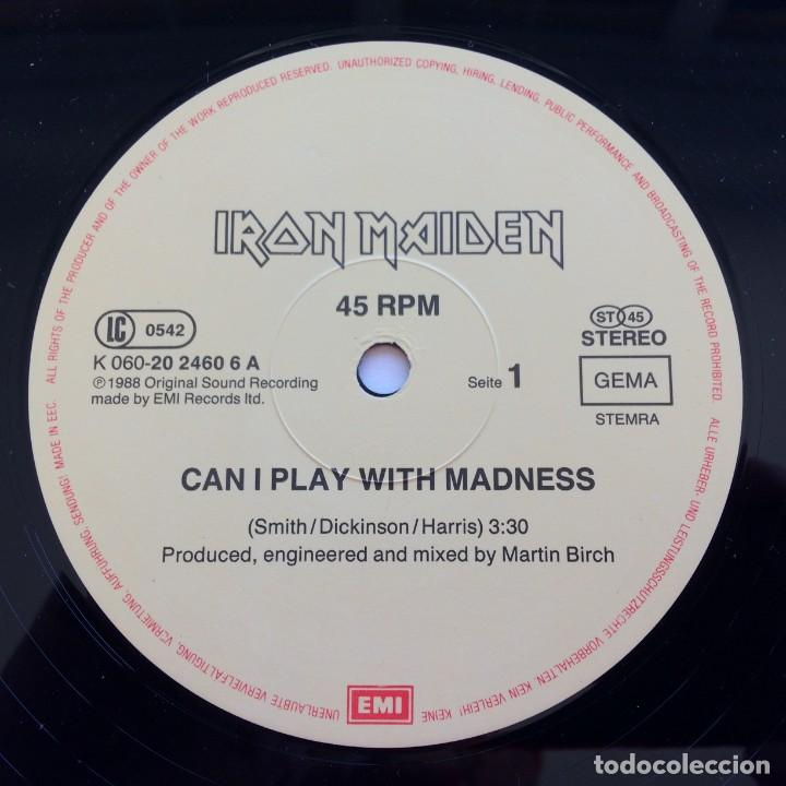 Discos de vinilo: Iron Maiden – Can I Play With Madness, Europe 1988 EMI - Foto 3 - 287350528