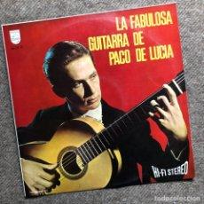 Discos de vinilo: LA GUITARRA FABULOSA DE PACO DE LUCIA. Lote 287351023