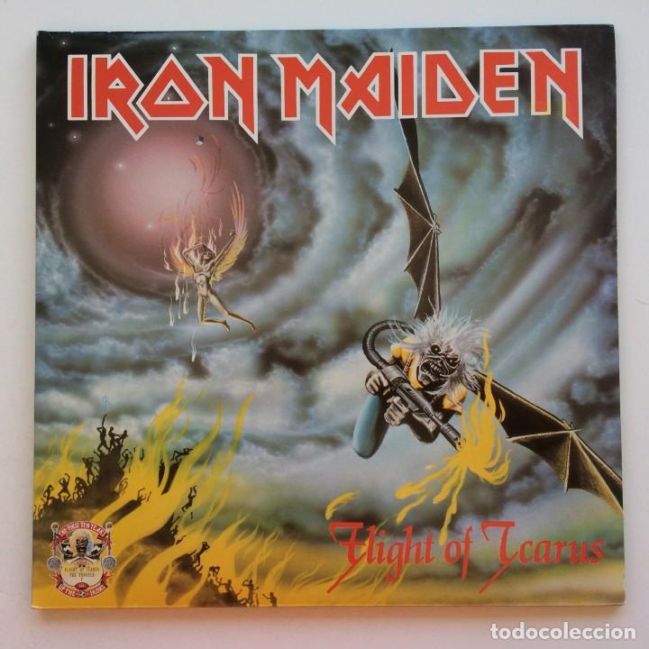 IRON MAIDEN – FLIGHT OF ICARUS · THE TROOPER, 2 VINYLS 12'' LIMITED EDITION EUROPE 1990 EMI (Música - Discos de Vinilo - Maxi Singles - Heavy - Metal)