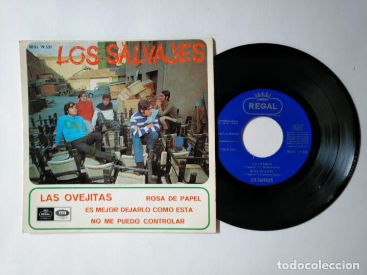 LOS SALVAJES - EP - LAS OVEJITAS +3 - REGAL SEDL 19531 - VER FOTOS Y DESCRIPCION (Música - Discos de Vinilo - Maxi Singles - Grupos Españoles 50 y 60)