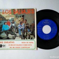 Discos de vinilo: LOS SALVAJES - EP - LAS OVEJITAS +3 - REGAL SEDL 19531 - VER FOTOS Y DESCRIPCION. Lote 287354298