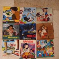 Discos de vinilo: LOTE 10 DISCOS EP,S VINILO INFANTIL. Lote 287357053