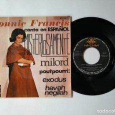 Discos de vinilo: CONNIE FRANCIS - EP - MISTERIOSAMENTE + 3 - MGM 63 529 - VER FOTOS Y DESCRIPCION. Lote 287360393