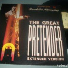 Discos de vinilo: FREDDIE MERCURY - THE GREAT PRETENDER 2 VERSIONES +1 ...MAXISINGLE DE EMI - 1987. Lote 287363903