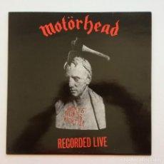 Discos de vinilo: MOTÖRHEAD – WHAT'S WORDS WORTH? (RECORDED LIVE), SWITZERLAND 1983 ASTAN. Lote 287366783