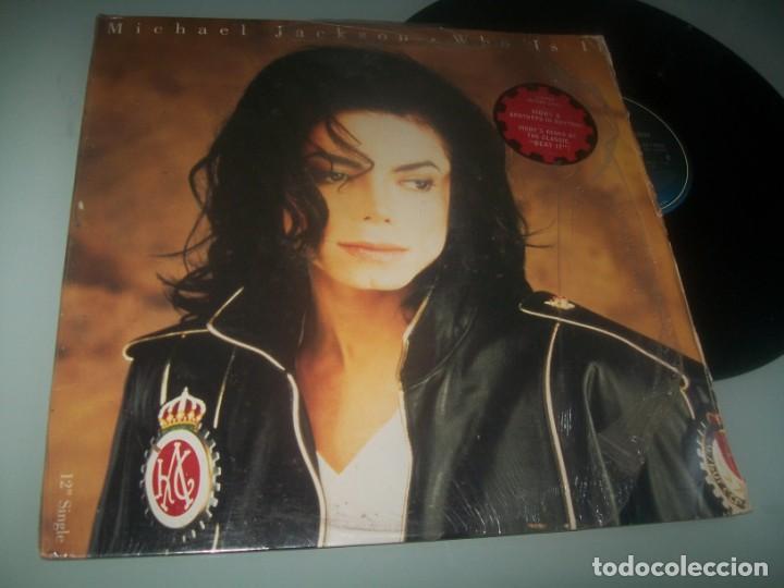 MICHAEL JACKSON - WHO IS IT...MAXISINGLE - EPIC DE 1991 IMPORTADO MEXICO - EXPORTADO MIAMI..U.S.A (Música - Discos de Vinilo - Maxi Singles - Funk, Soul y Black Music)