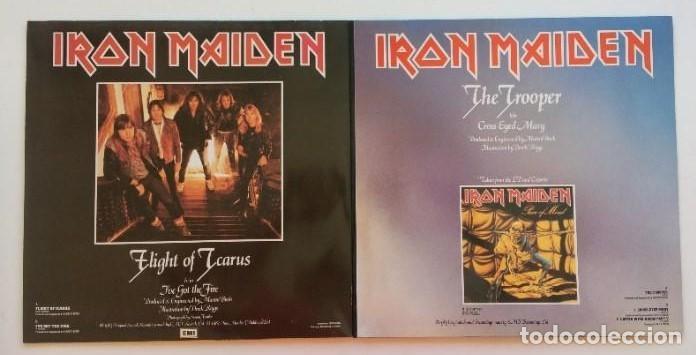Discos de vinilo: Iron Maiden – Flight Of Icarus · The Trooper, 2 Vinyls 12 Limited Edition Europe 1990 EMI - Foto 7 - 287351978