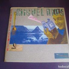 Disques de vinyle: MIGUEL RIOS – EL AÑO DEL COMETA - LP POLYDOR 1986 - CARPETA PROMOCIONAL + INSERT - VINILO SIN USO. Lote 287378163