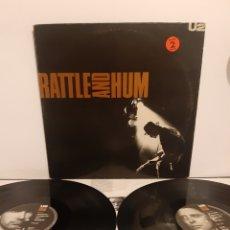 Discos de vinilo: U2. RATLLE AND HUM. 1988. ESPAÑA.. Lote 287378203