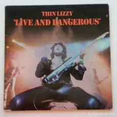 Discos de vinilo: THIN LIZZY – LIVE AND DANGEROUS, 2 VINYLS SCANDINAVIA 1978 VERTIGO. Lote 287380903