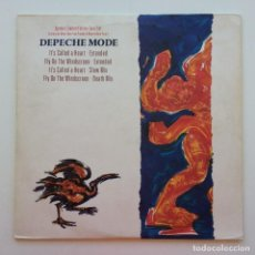 Discos de vinilo: DEPECHE MODE – IT'S CALLED A HEART / FLY ON THE WINDSCREEN, 2 VINYLS 12'' LIMITED EDITION UK 1985. Lote 287386808