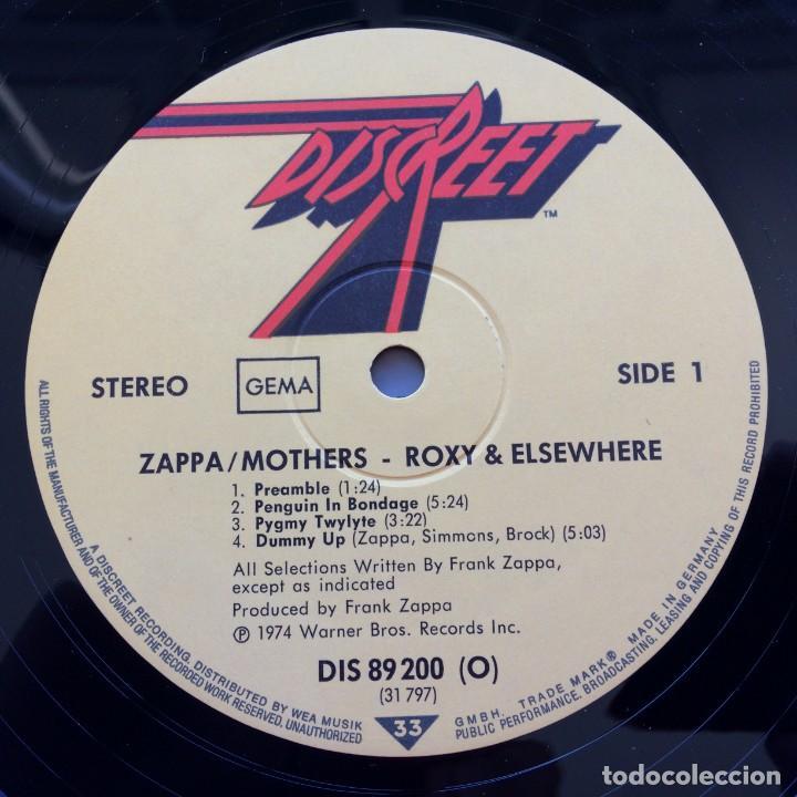 Discos de vinilo: Zappa / Mothers – Roxy & Elsewhere, 2 Vinyls Germany 1974 Discreet - Foto 4 - 287391088