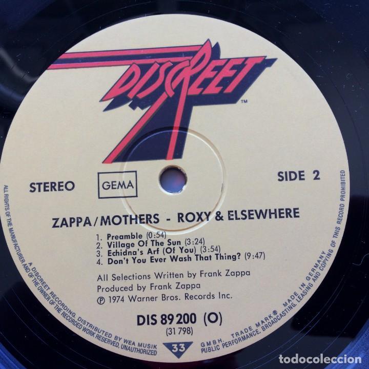 Discos de vinilo: Zappa / Mothers – Roxy & Elsewhere, 2 Vinyls Germany 1974 Discreet - Foto 5 - 287391088