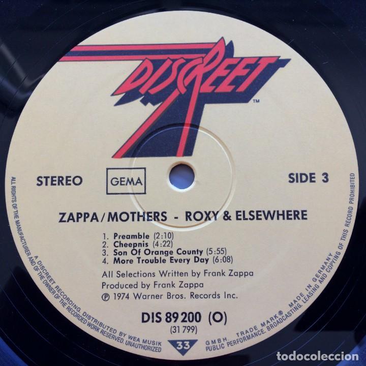 Discos de vinilo: Zappa / Mothers – Roxy & Elsewhere, 2 Vinyls Germany 1974 Discreet - Foto 6 - 287391088