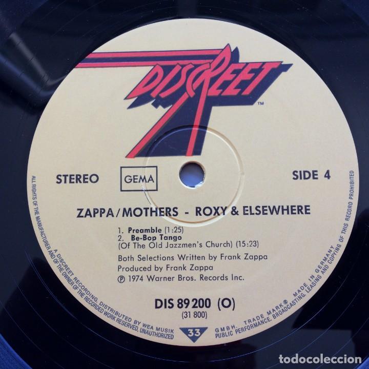 Discos de vinilo: Zappa / Mothers – Roxy & Elsewhere, 2 Vinyls Germany 1974 Discreet - Foto 7 - 287391088