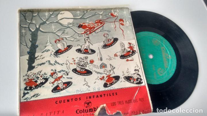 SINGLE (VINILO) CON LOS CUENTOS INFANTILES LA RATITA/ LOS 3 HIJOS DEL REY AÑOS 60 (Música - Discos - Singles Vinilo - Música Infantil)