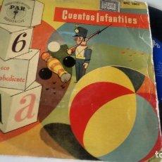 Discos de vinil: SINGLE (VINILO) CON EL CUENTO INFANTIL EL ECO DESOBEDIENTE AÑOS 60. Lote 287412183