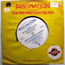 Discos de vinilo: IMAGINATION - NEW DIMENSION (ELECTRO MIX) - MAXI R & B RECORDS 1983 UK BPY. Lote 287427548