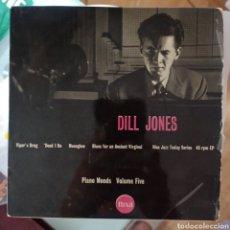 Discos de vinilo: THE DILL JONES TRIO - PIANO MOODS VOLUME FIVE (PYE NIXA, UK, 1957). Lote 287437253