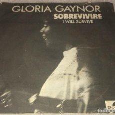 Discos de vinil: SINGLE GLORIA GAYNOR - I WILL SURVIVE SOBREVIVIRE - SUBSTITUTE - POLYDOR - PEDIDO MINIMO 7€. Lote 287443533