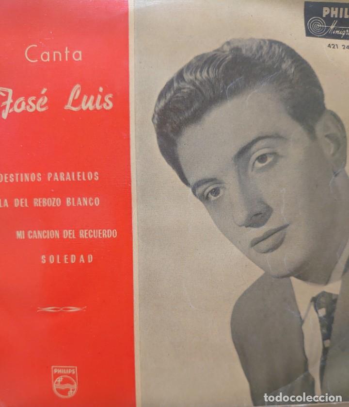 JOSÉ LUIS EP SELLO PHILLIPS EDITADO EN ESPAÑA AÑO 1959 (Música - Discos de Vinilo - EPs - Solistas Españoles de los 50 y 60)
